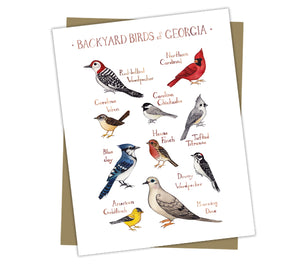 Wholesale Backyard Birds Field Guide Cards: Georgia