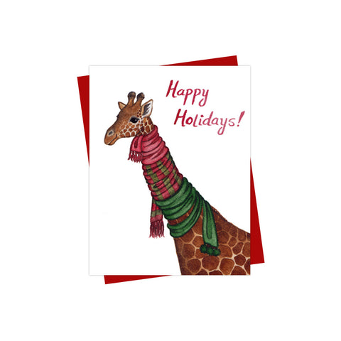 Giraffe Holiday Card