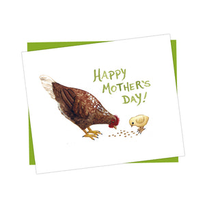 Chicken Happy Mother's Day Card