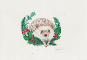 Hedgehog Holiday Painting