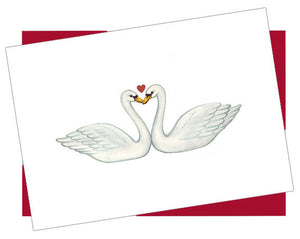 Romantic Swans Card