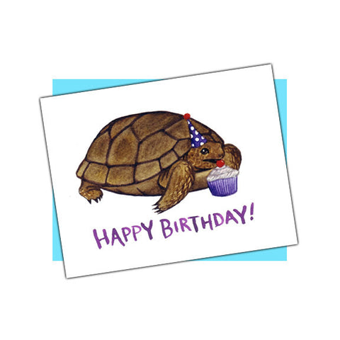 Tortoise Happy Birthday Card