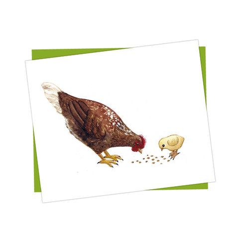 Hen and Chick Card