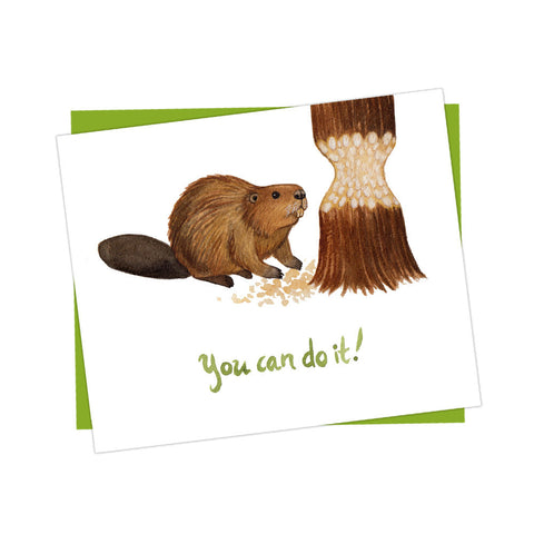 Beaver You Can Do It Card