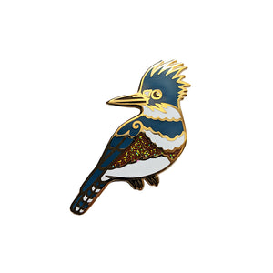 Kingfisher Enamel Pin