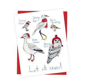 "Holiday ""Let It Snow!"" Birds Card"