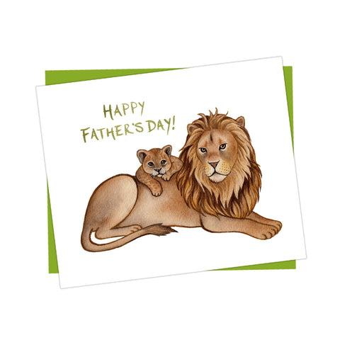 Father's Day Lion and Cub Card
