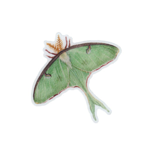 Luna Moth Vinyl Sticker