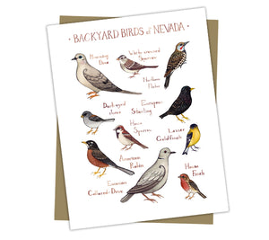 Wholesale Backyard Birds Field Guide Cards: Nevada