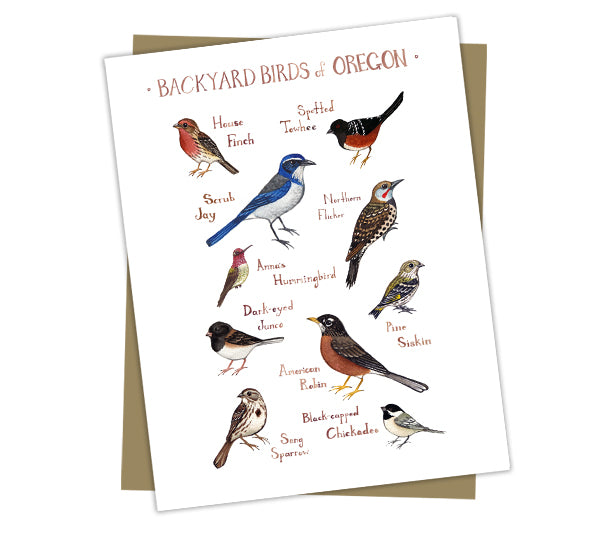 Wholesale Backyard Birds Field Guide Cards: Oregon