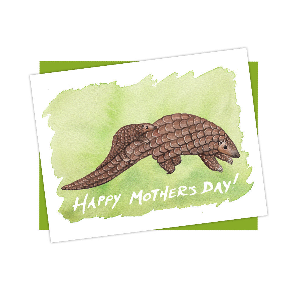 Pangolin Mother's Day Card