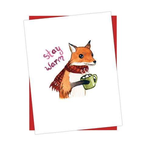 Stay Warm Fox Card