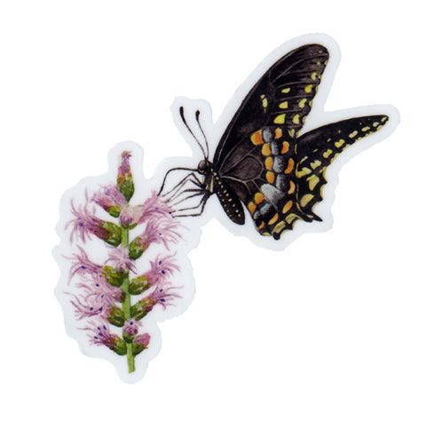 Swallowtail on Blazing Star Vinyl Sticker