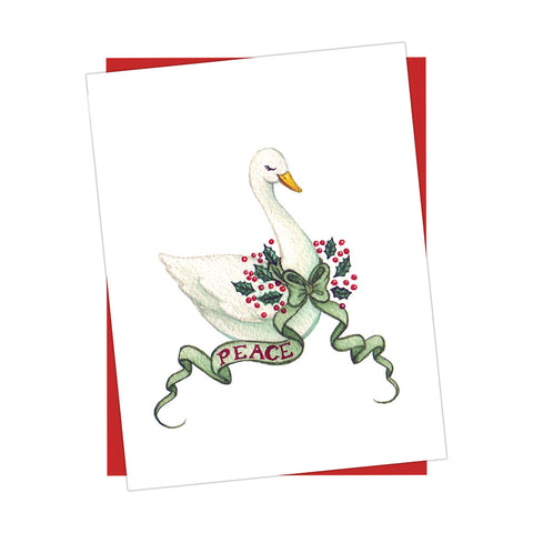 Peace Swan Holiday Card
