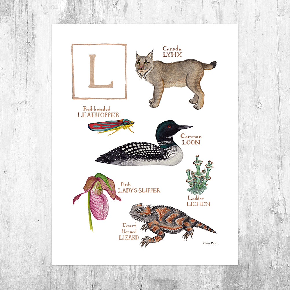 The Letter L Nature Art Print