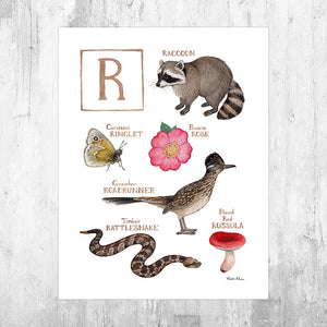 The Letter R Nature Art Print