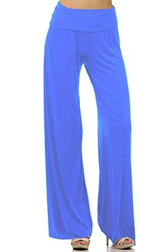 DBG Women's Palazzo Spandex Cotton Solid Pants