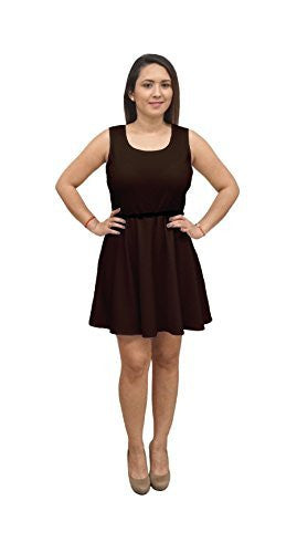 DBG Women's Sleeveless Scoop Neck Polyester Dress