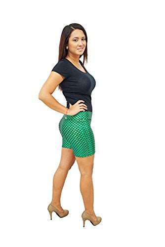 DBG Women's Mermaid Fish Scale Shorts