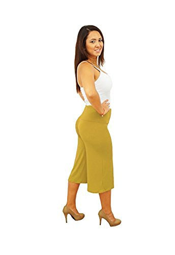 DBG Women's Women's Gaucho Capri Wide Legged Pants