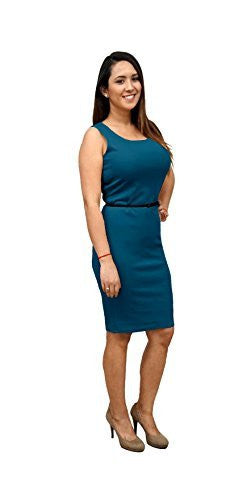 DBG Women's Sleeveless Pencil Polyester Dress