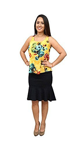DBG Women's Sleeveless Scoop Neck Polyester Blouse