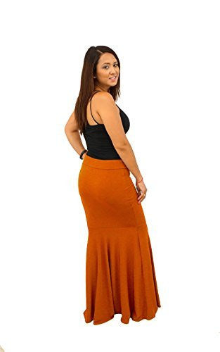DBG Women's Women's Mermaid Maxi Style Skirts