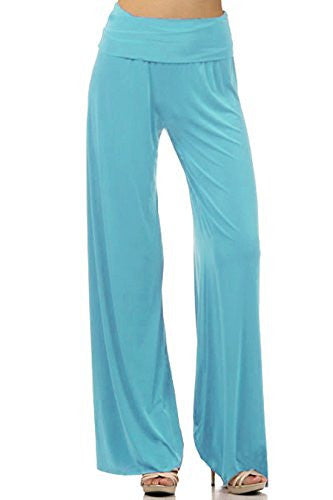 DBG Women's Black Palazzo Spandex Cotton Solid Pants