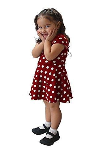DBG Girls Short Sleeves Round Neck Polyester Dress