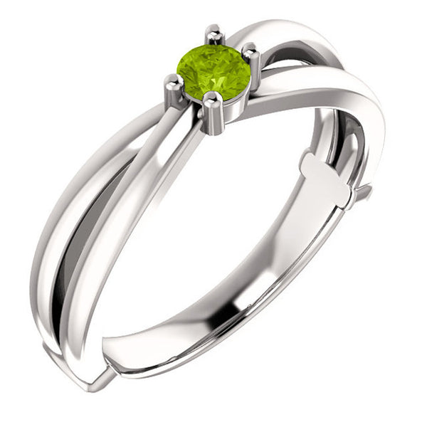 71709-Mother's Ring-1-6-stones-2.5mm Round Shape