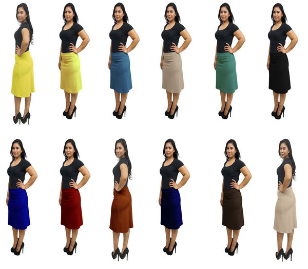 DBG Women's A Line Solid Colors Skirts