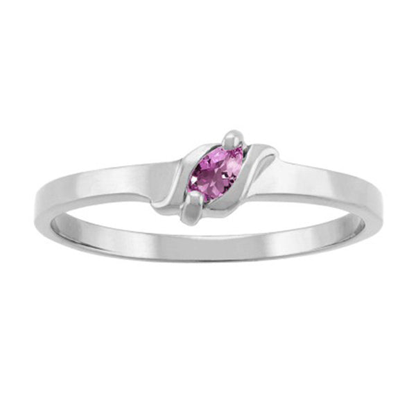 F35-Mother's Ring-1-7-stones-4X2 mm Marquise Shape