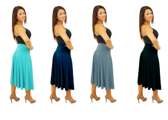 DBG Women's Women's Flared Midi Fall Skirts