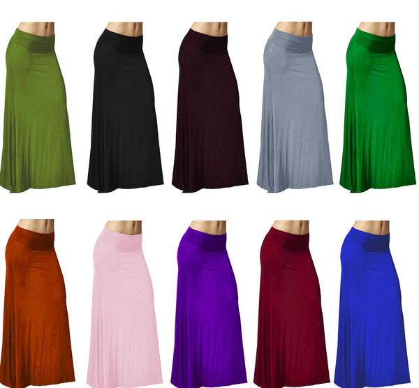 DBG Women's Women's Maxi High Waist Rayon Skirts