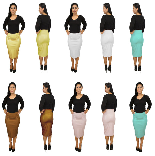 DBG Women's Faux Pencil Skirts