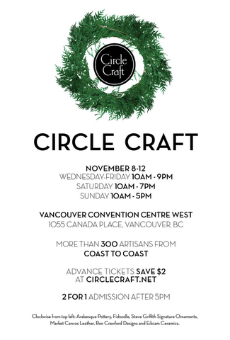 Circle Craft Christmas Market show hours 2017