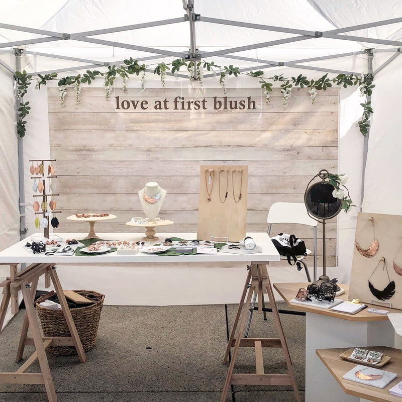 toronto outdoor art fair booth loveatfirstblush