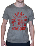 Muay Thai Tiger T Shirt - Grey Falling Sun