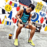 Muay Thai Weapons Sleeveless - Neon BLUE