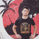 Muay Thai Tiger T Shirt - Golden Sun