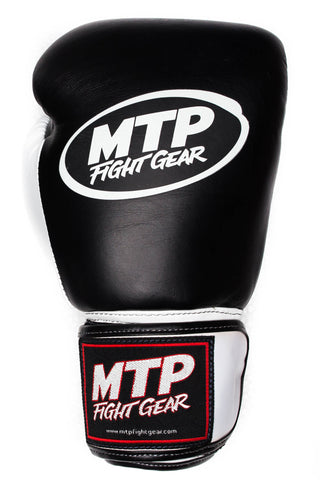 Limited Edition Black/White Thumb MTP Boxing Gloves