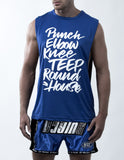 Muay Thai Weapons Sleeveless - Blue Color