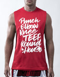 Muay Thai Weapons Sleeveless - Red Color