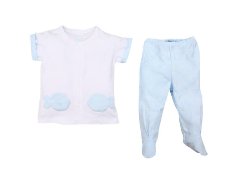 Bear and Fish Baby Pajamas
