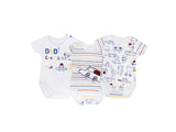 Colourful Cars Baby 3 Piece-BodySuit-Set 100% Cotton