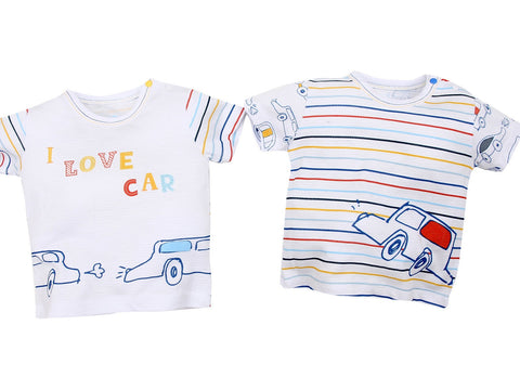 Colourful Cars 2 Piece-Tee Set