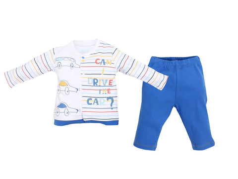 Colourful Cars Baby Pajamas 100% Cotton