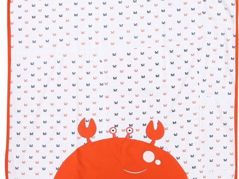 Nice Friends Crab  Baby Blanket 100% Cotton