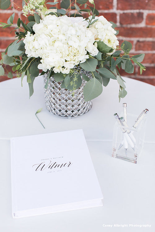 Wedding Guest Book Crystal Pens