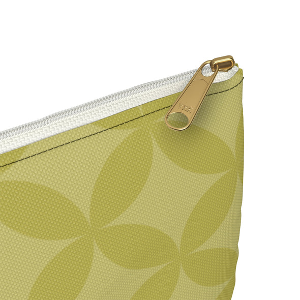 Circle Pattern Accessory Pouch, Green